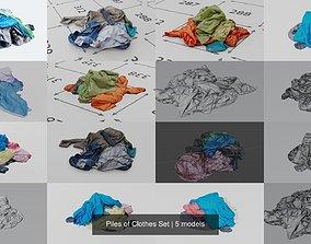 3D Piles of Clothes Set