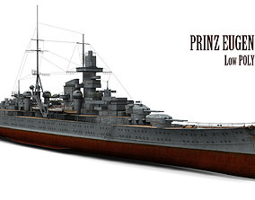 Prinz Eugen Cruiser 3D model low-poly