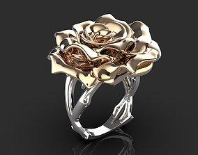 fashion-ring 3D printable model ring rose