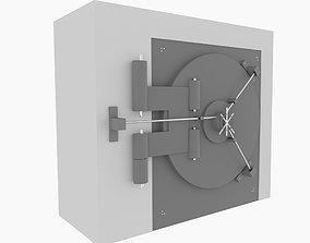 Bank vault door 3D treasure