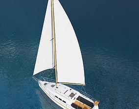 3D model sailor Sailing yacht