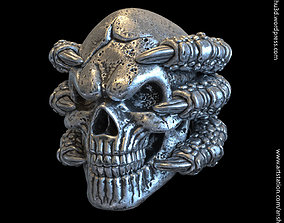 skull with claws vol1 Pendant jewelry 3D print model