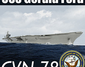 US Navy CVN-78 USS Gerald F Aircraft Carrier 3D