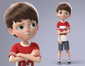 Cartoon Boy Rigged young 3D model