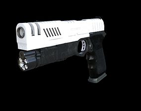 Glock 23 pistol 3D model revolver
