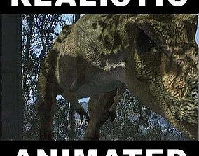 animated JP T Rex - 3d model a