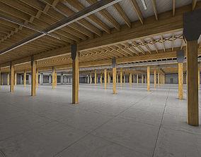 3D model Industrial Building Interior 02