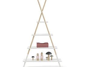 3D Teepee Shape Shelf with Decorations