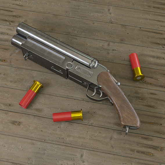 Tripple Barrel Shotgun