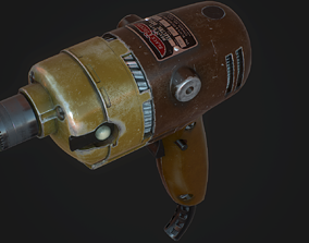 Black and Decker Drill 3D model