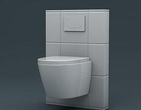 Hanging Toilet 3D asset VR / AR ready