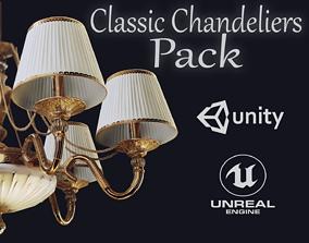 3D model HQ Classic Chandeliers Pack