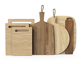 3D model Wooden chopping boards