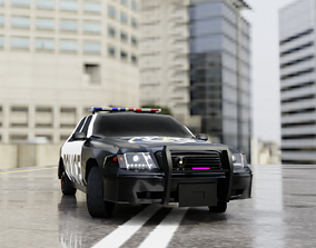 3D model Ford crown victoria police interceptor