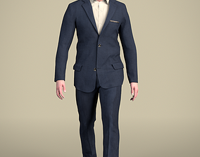 Andrew 20214-02 - Animated Walking Business Man 3D model