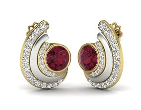 Women earrings 3dm render detail 3D 1
