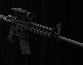 3D asset realtime M4A1 Carbine