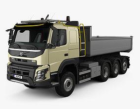 3D model Volvo FMX Tridem Tipper Truck with HQ interior