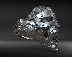Viking skull ring 3D print model knot
