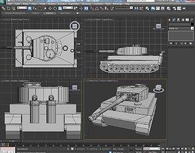 3D model Tank Tiger or Pz 5