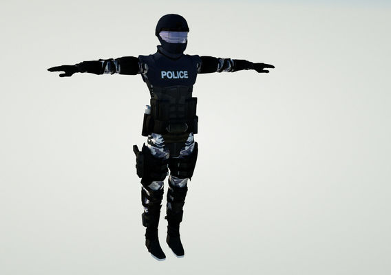 3D Policeman Character