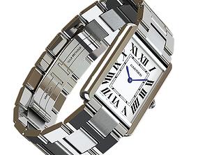 3D model Cartier Tank Solo Watch