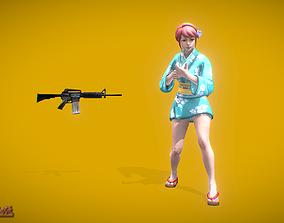 Battle Royale Kimono 3D asset