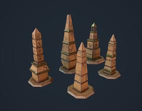 3D asset Obelisk Pack