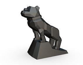3D print model bulldog low poly