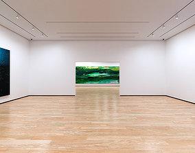 Art Museum Gallery Interior 1b 3D model