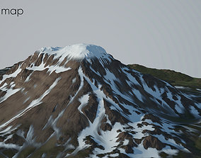 3D model Snow Covered Mountain