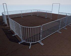 Modular Iron Barricade 3D asset