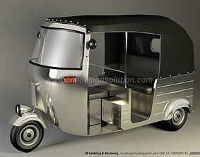 3D printable model Indian Autorickshaw or Three Wheeler