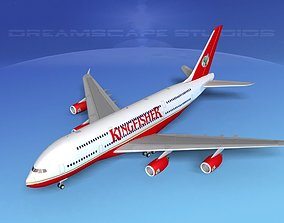 3D Airbus A380-800 Kingfisher