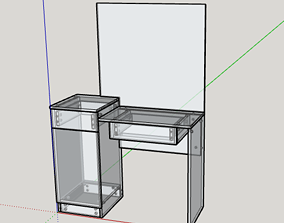 Dressing Table made for CNC router 3D print model