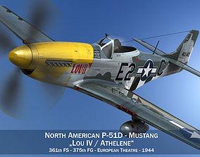 3D model North American P-51D Mustang - Lou IV