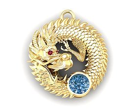 567 Lucky Dragon Pendant 3D printable model