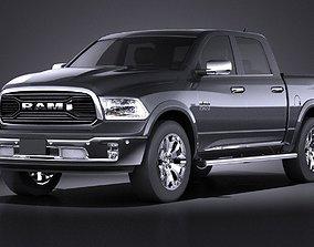 HQ LowPoly Dodge RAM 1500 Laramie Limited 2015 VRAY 3D