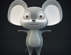 Cartoon Mouse Gray 3D model
