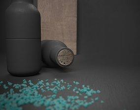 dark 3D bottle anx salt set