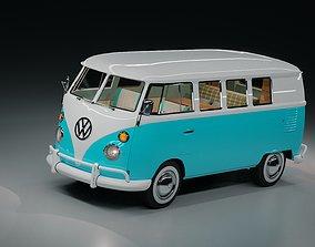 3D model Volkswagen Type 1 camper van