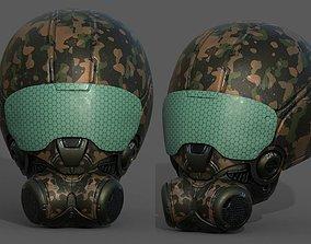 3D model Helmet scifi armor combat fantasy armor