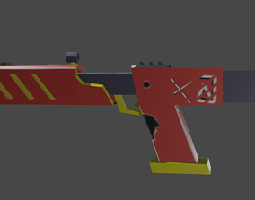 sci fi gun 3D asset game-ready