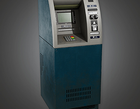 3D model Bank ATM 1 BHE - PBR Game Ready