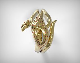 3D print model Jewelry Golden Ring With Floral Details