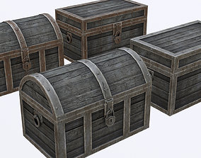 3D asset Low Poly Antique Chests With PBR Materials and 2