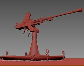 animated Submachine gun 3dmodel