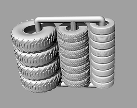 Tabletop gaming miniature Tyres Tires 3D printable model