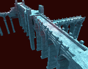 Fushan Pontoon Stone Bridge Alpine bridge 3D model