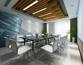 3D model Conference room office reception hall 21